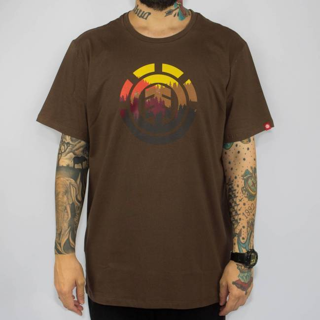 Camiseta Element Glimpse Icon Marrom