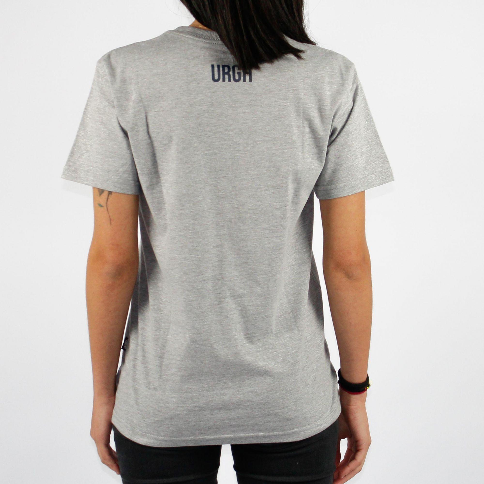 Camiseta Feminina Urgh Balão - Cinza Mescla