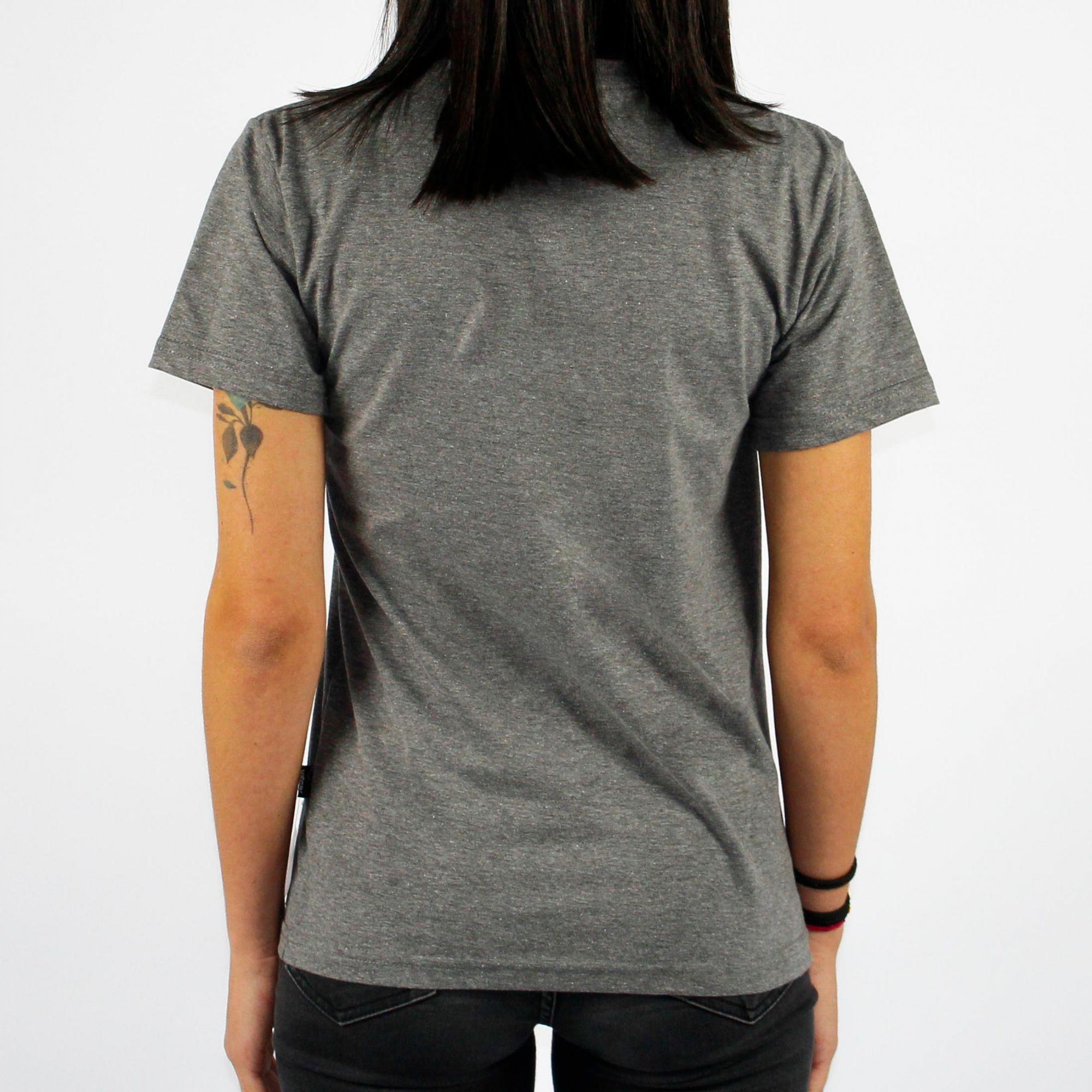 Camiseta Feminina Urgh Classic Cinza Mescla Escuro