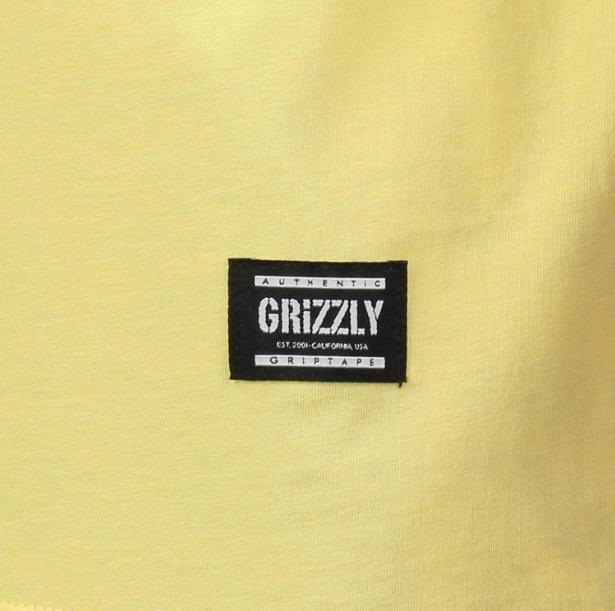 Camiseta Grizzly Lowercase Logo - Amarelo/Preto