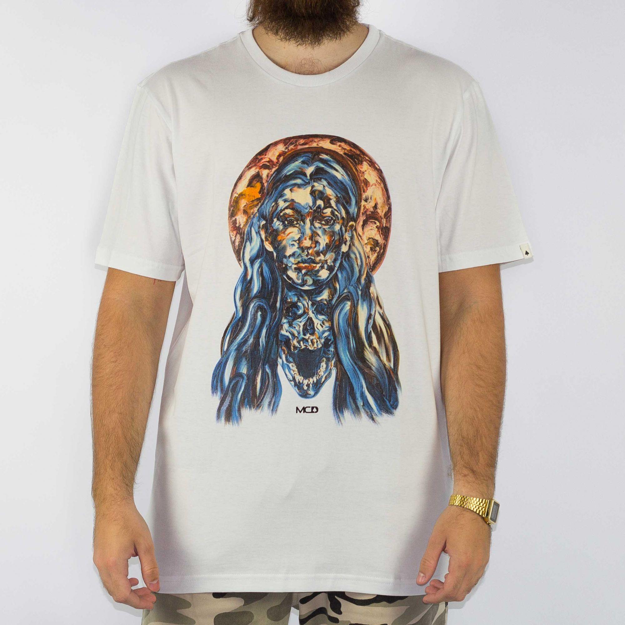 Camiseta MCD Regular Santa - Branca/Multi Color