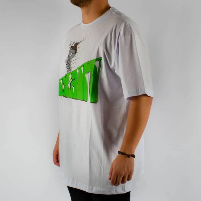 71f7394201 Camiseta Pixa In Skatista Branca Logo Verde - Skate Shop ...