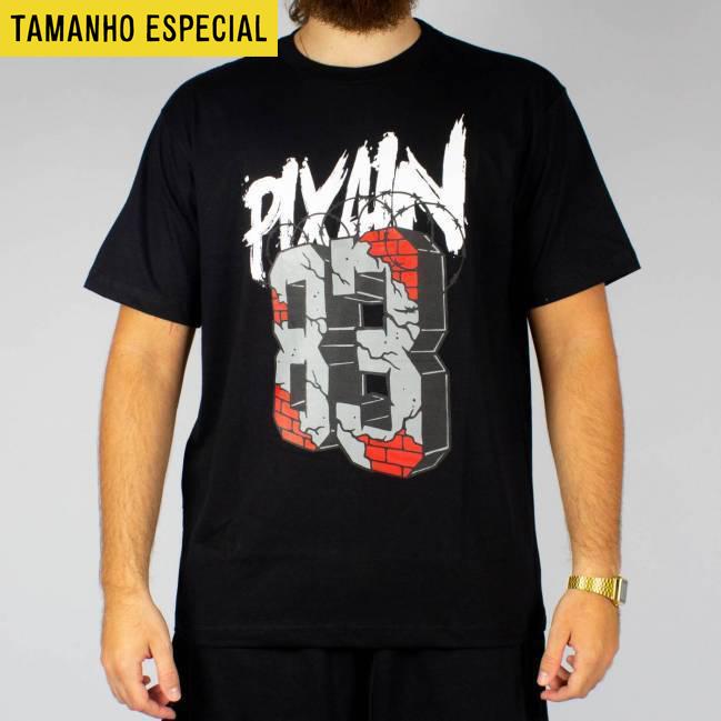 6667ac5fdd Camiseta Pixan In Arame Farpado Rua 83 Preta Tamanho Especial ...