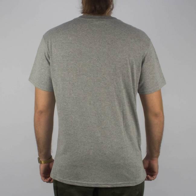 Camiseta Thrasher Mc Flame Bottow Cinza Mescla