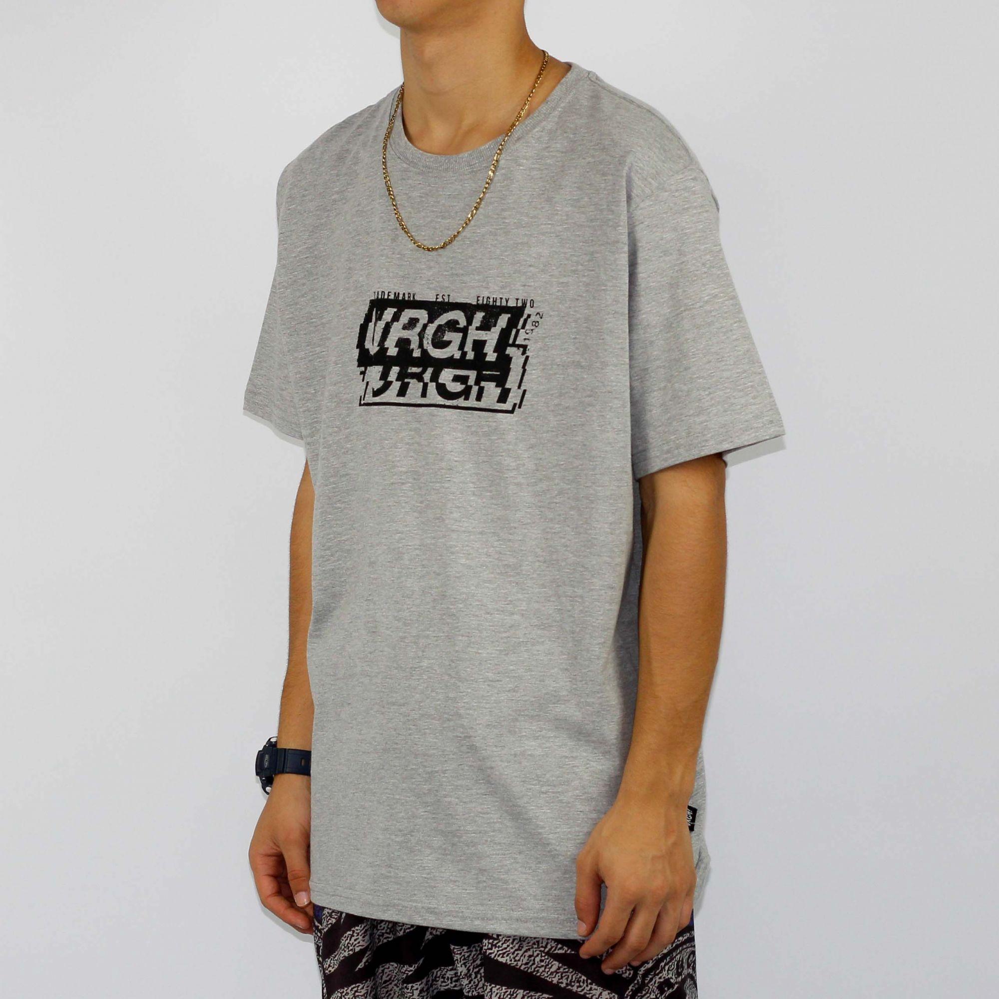 Camiseta Urgh Interferência Cinza