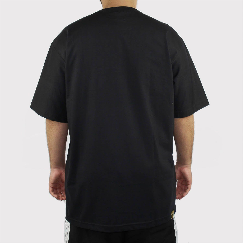 Camiseta XXL Preta Logo Branco (Tamanho Especial)