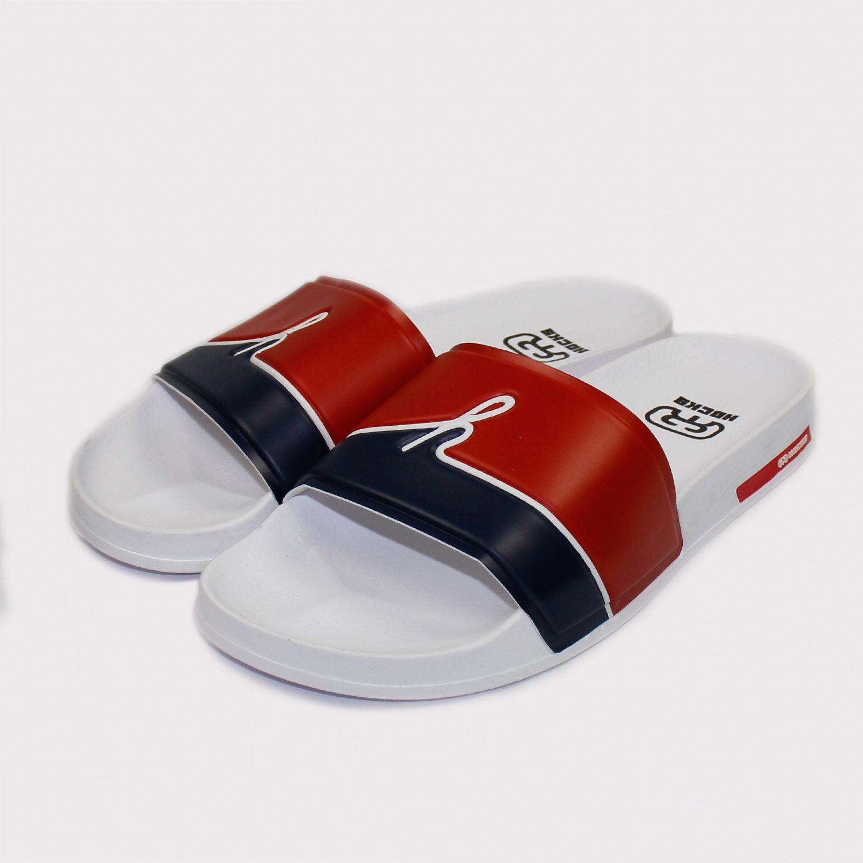 Chinelo Hocks Slide - Branco/Azul/Vermelho