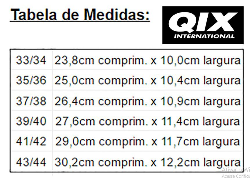 Chinelo Qix International Slide - Preto/Branco