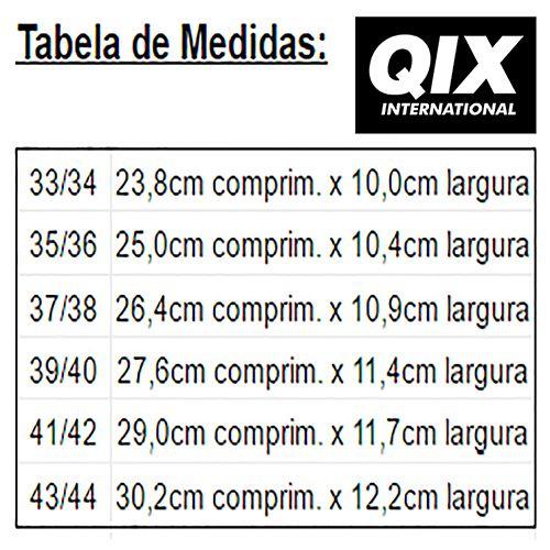 Chinelo Qix Listrado Slide - Branco/Preto