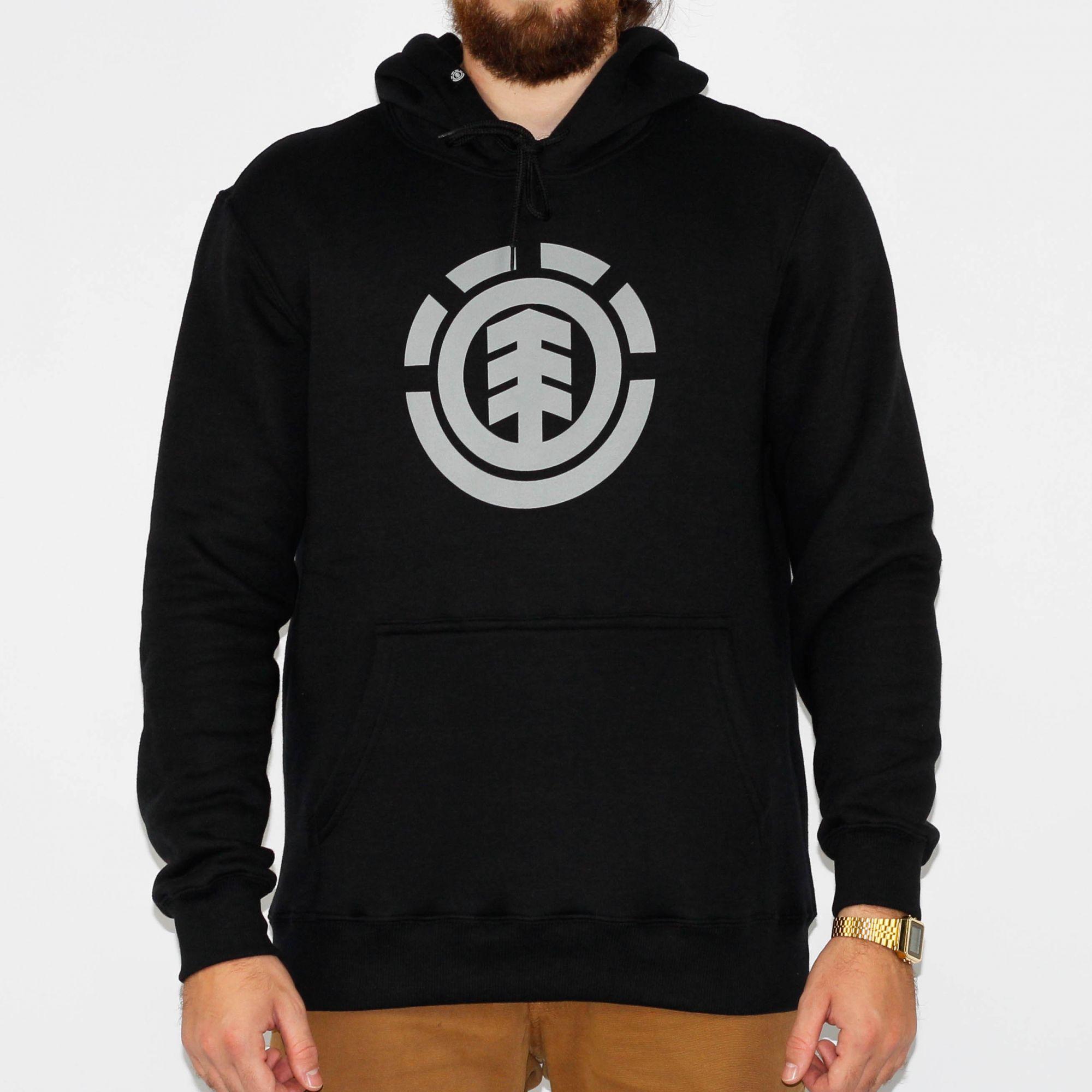 38121ccde Moletom Element Seal Preto/Cinza Escuro - Skate Shop | Streetwear ...