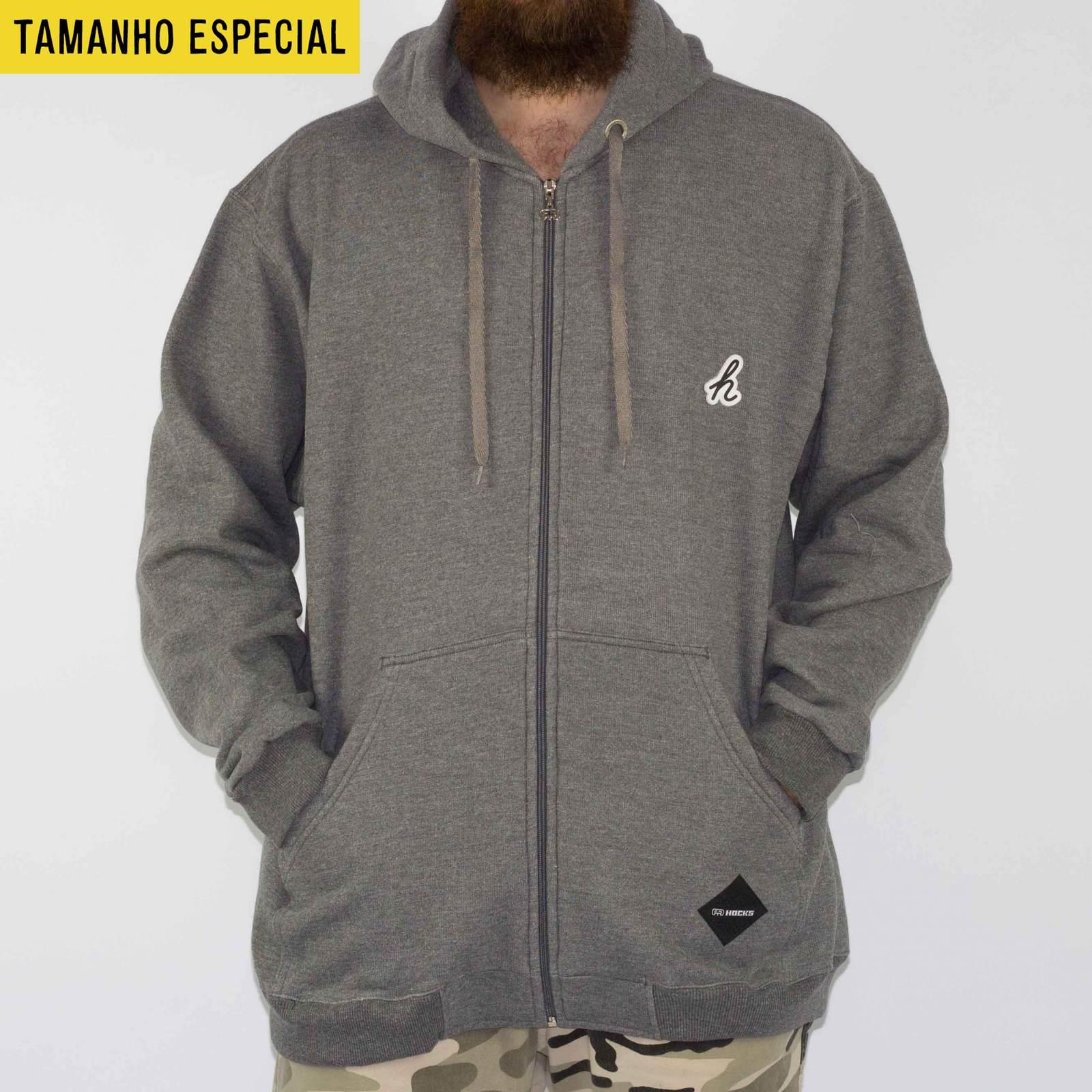3f7008781 Moletom Hocks Agazin Cinza Escuro (Tamanho Especial) - Skate Shop ...