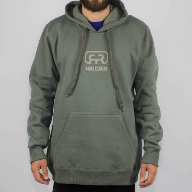 408824224 Moletom Hocks Canguru Fechado Logo V Mescla Escuro - Skate Shop ...