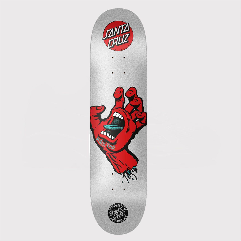 Shape Santa Cruz Powerlyte Screaming Hand Metalic 8.0 Prata/Vermelho