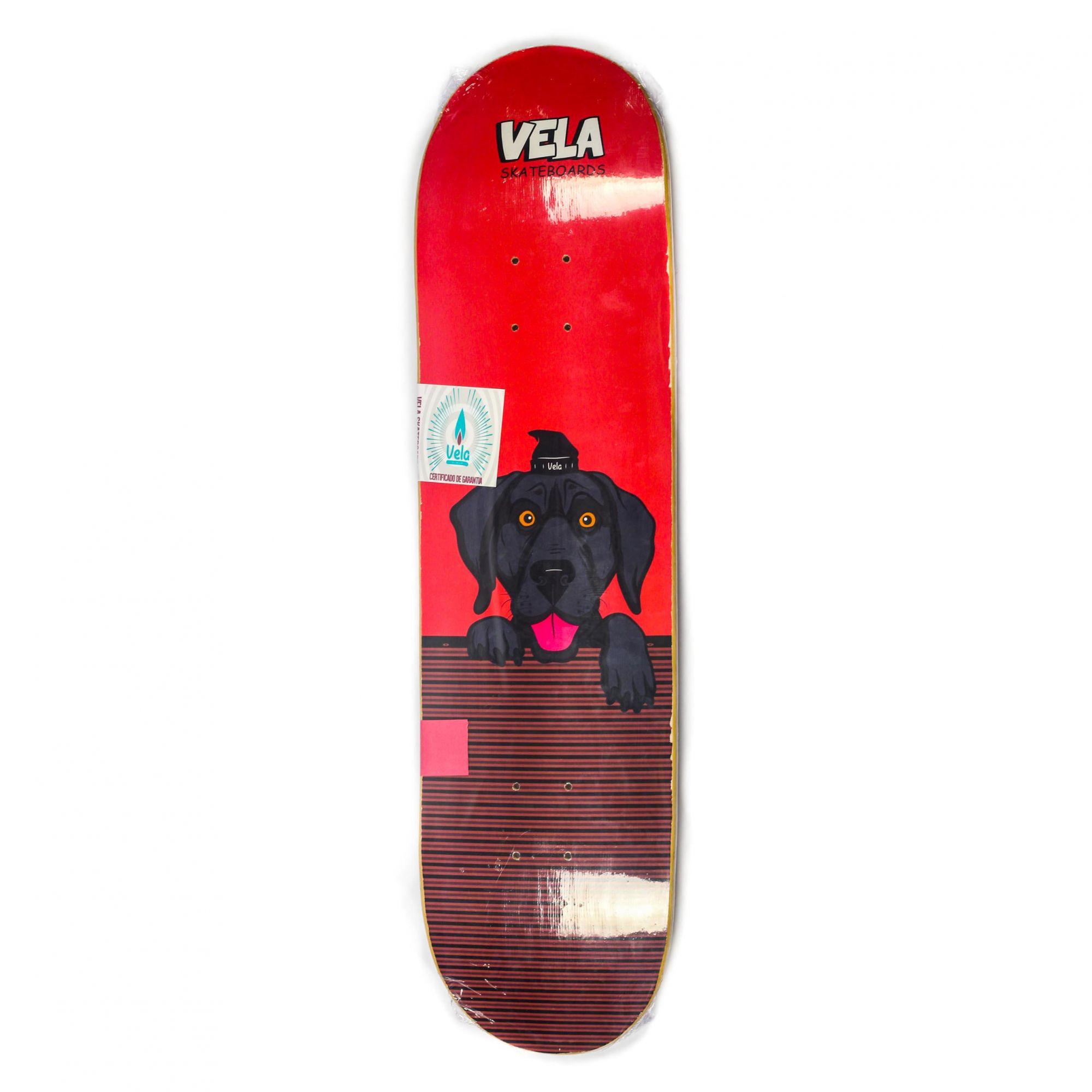 Shape Vela Dog Wall Vermelho 8.0