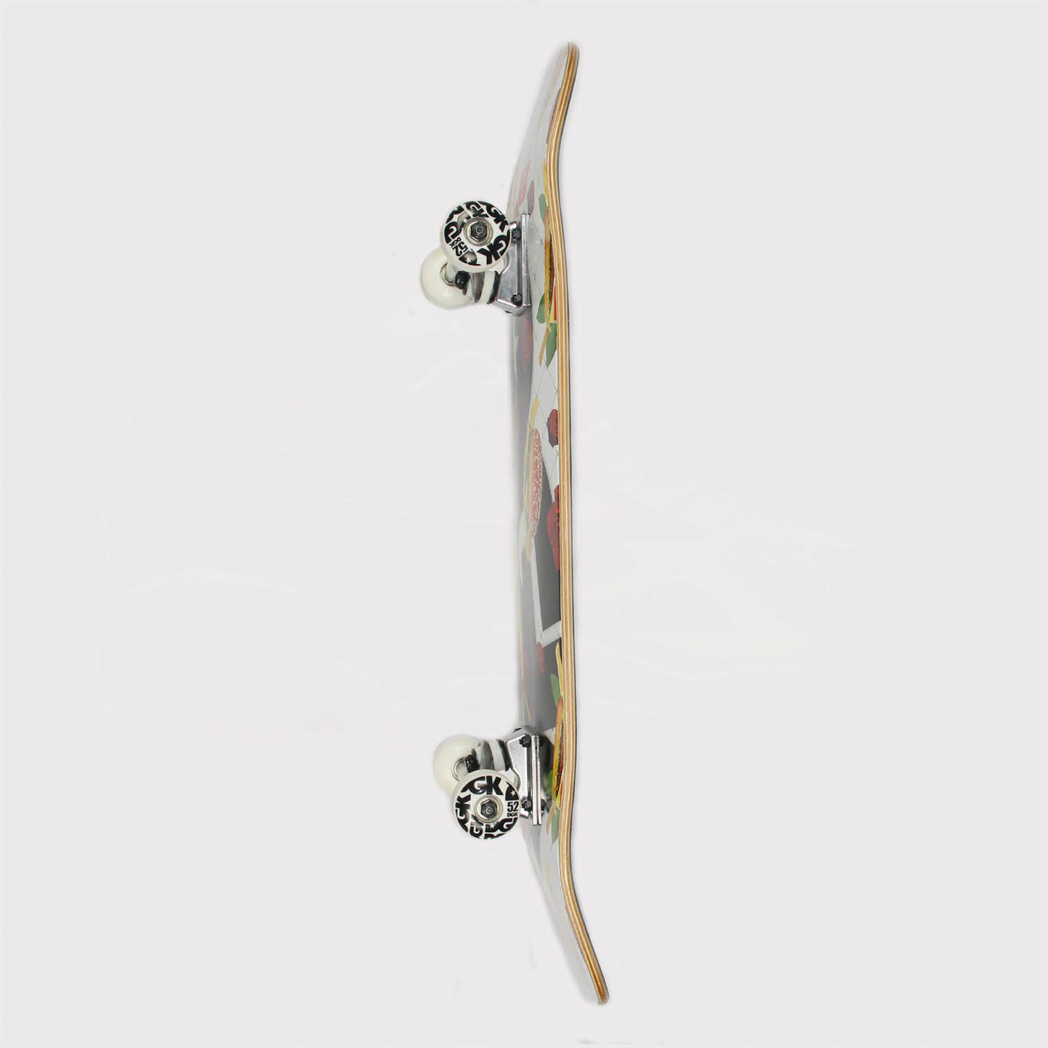 Skate Montado Maple DGK Junk Food 8.0 Branco/Preto