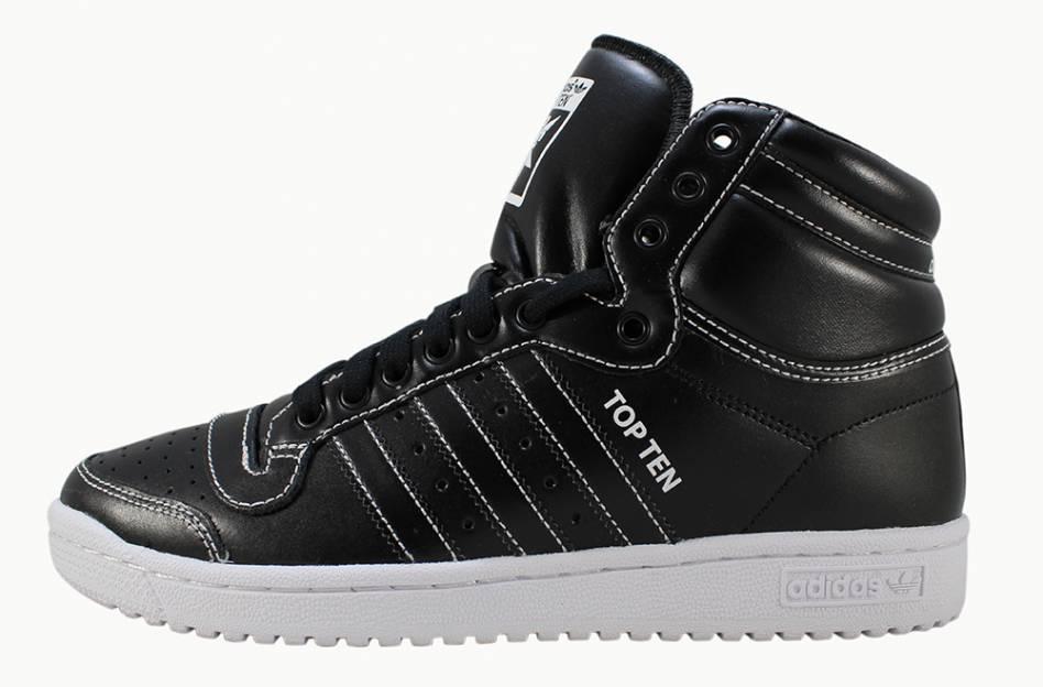 Tênis Adidas Top Ten Hi Black/White