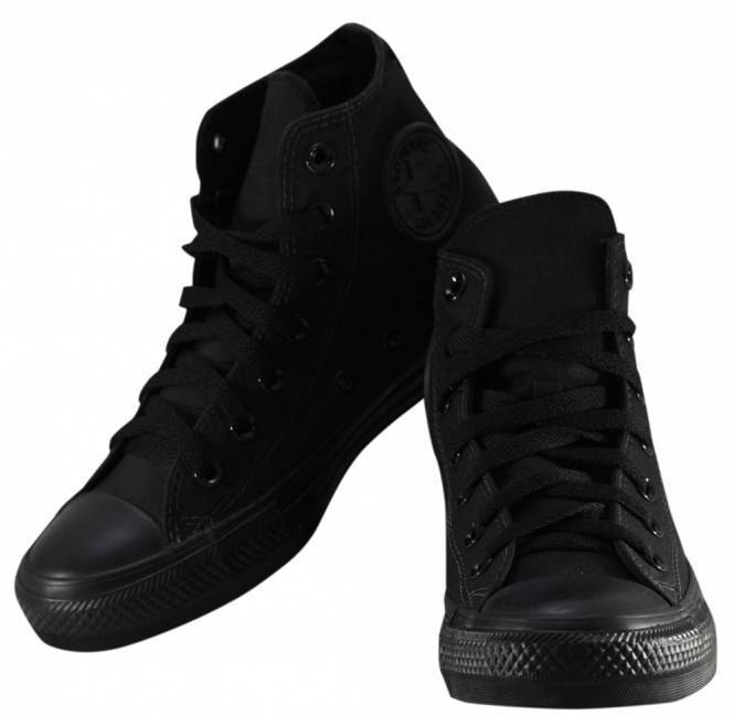 Tênis Converse CT All Star Monochrome Hi Preto/Preto