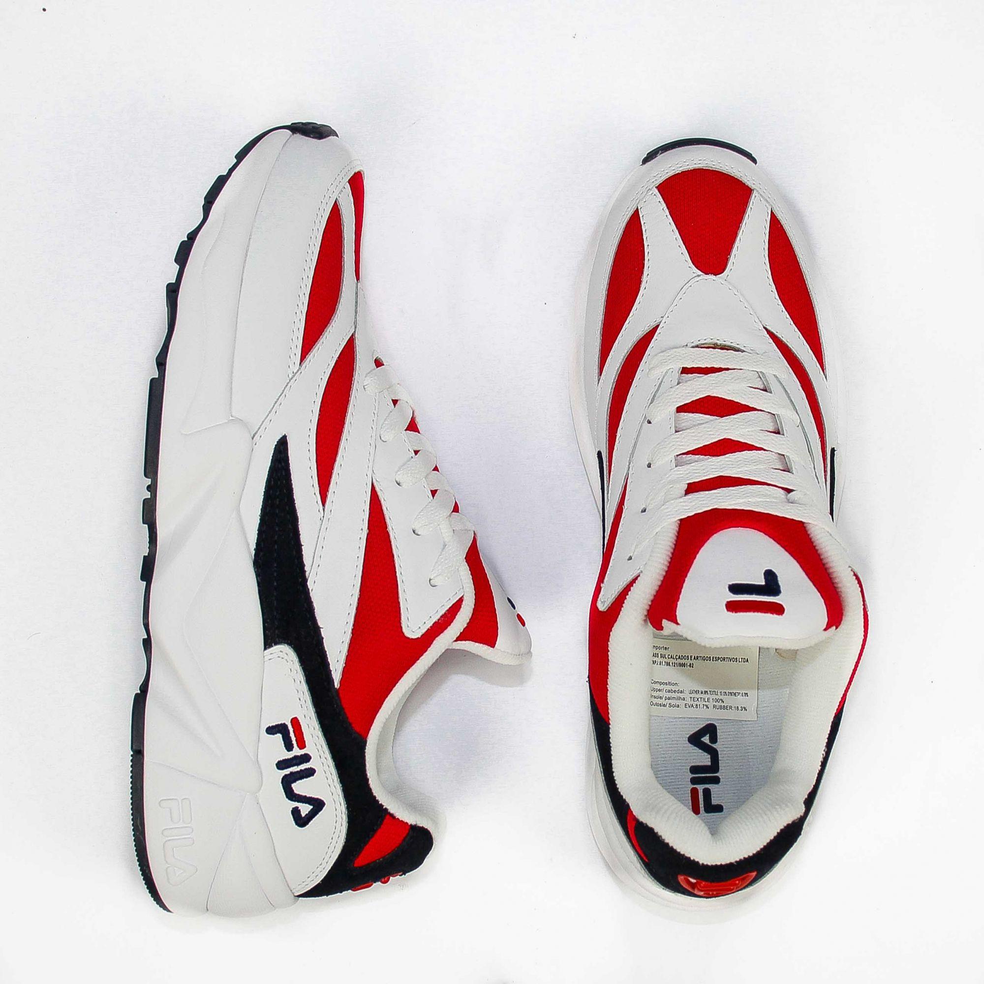 Tênis Fila Venom V94M Footwear Branco/Vermelho/Azul