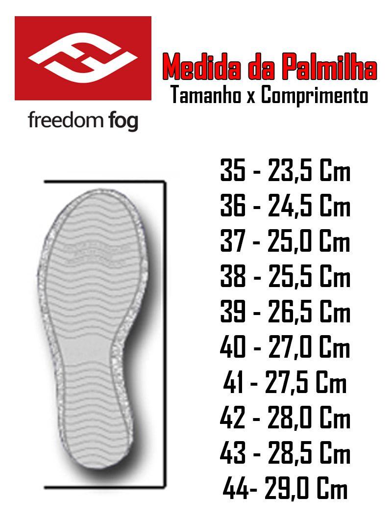 Tênis Freedom Fog Mit Preto Total