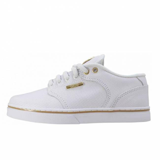 Tênis Hocks Montreal White/Gold (Branco/Ouro)