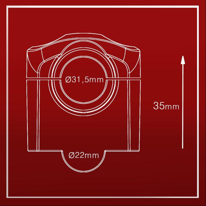 Adaptador de Guidão UP 31,5mm Anker Elegance
