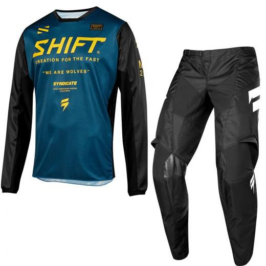 Kit Calça + Camisa para motocross Shift White Muse