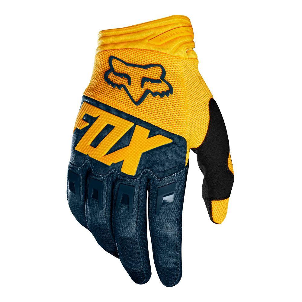 Luva para trilha motocross enduro Dirtpaw Race 19 Fox - Amarela