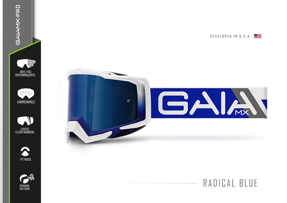 Óculos GAIA MX Blue Raze