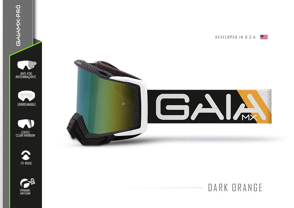Óculos GAIA MX Dark Orange