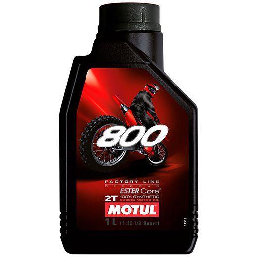 Oleo De Motor Motul 800 Factory Line Off Road 2 Tempos Sintético 1 Litro