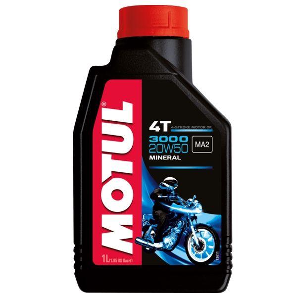 Óleo de Motor Motul 3000 4T Mineral 20W50 1 Litro
