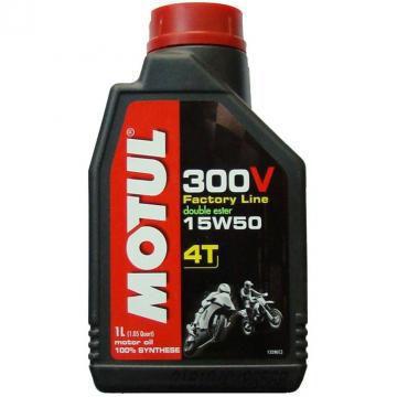 Óleo Motul 300V Factory Line Road Racing 15W50 Sintético 4 Tempos 1 Litro