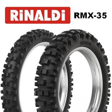 Pneu Rinaldi Traseiro 100/100-18 RMX35