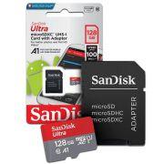 Cartão Micro Sd Sandisk 128gb 100mb/s Sdxc Classe 10 ultra Lacrado