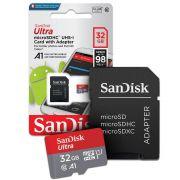Cartão Micro Sd Sandisk 32gb 80mb/s Sdxc Classe 10 ultra Lacrado