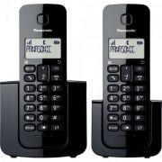 Telefone sem Fio Panasonic com ID e Base + Ramal KX-TGB112LBB Preto