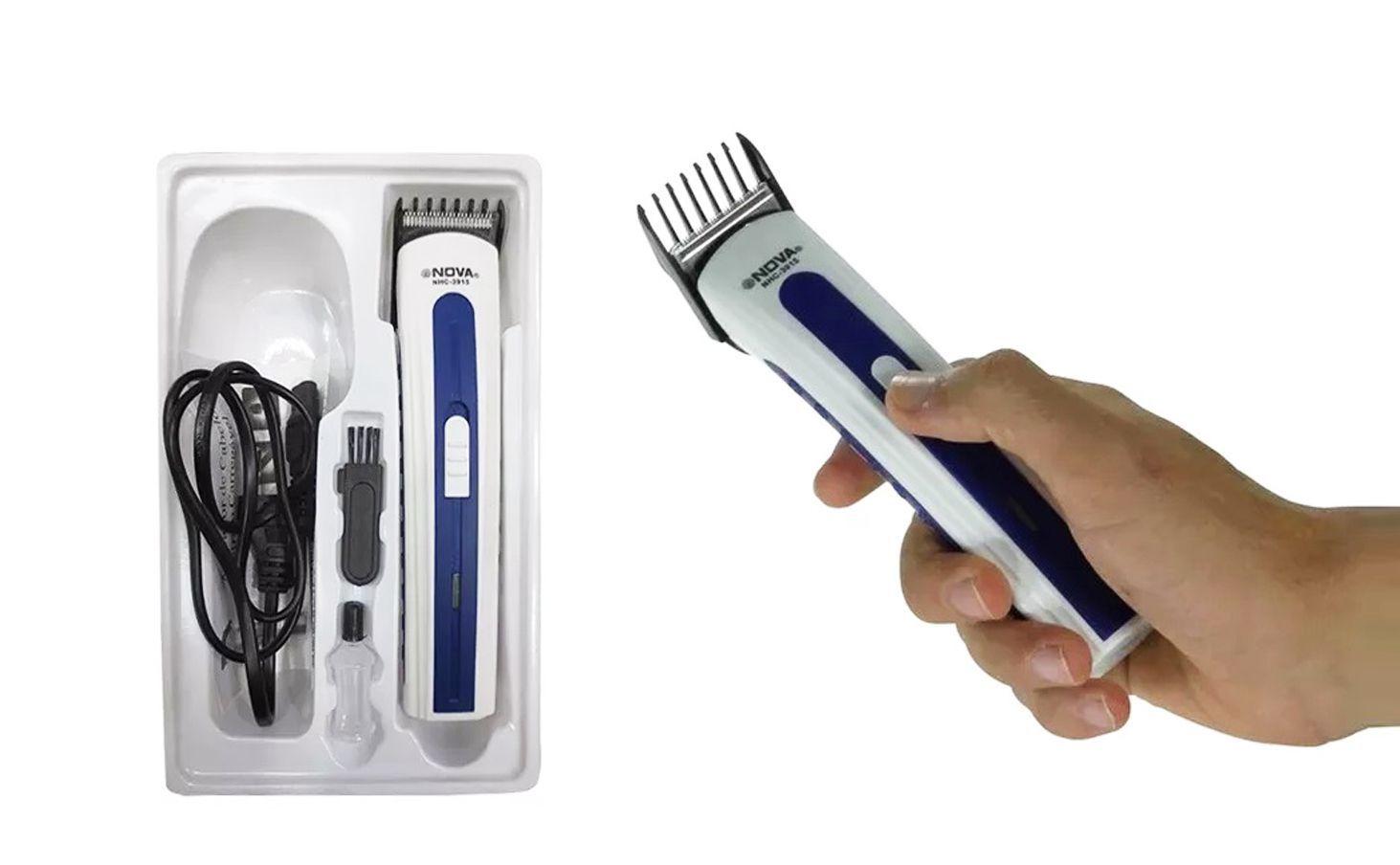 Barbeador E Aparador De Barba Nova NHC- 3915 127v Máquina De Acabamento