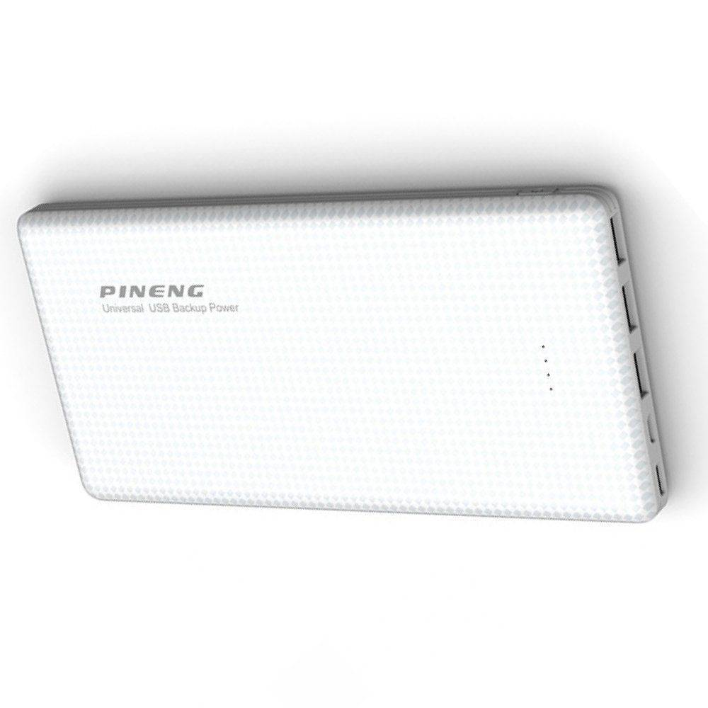 Bateria Externa Slim Power Bank Branco Pineng 20.000mah