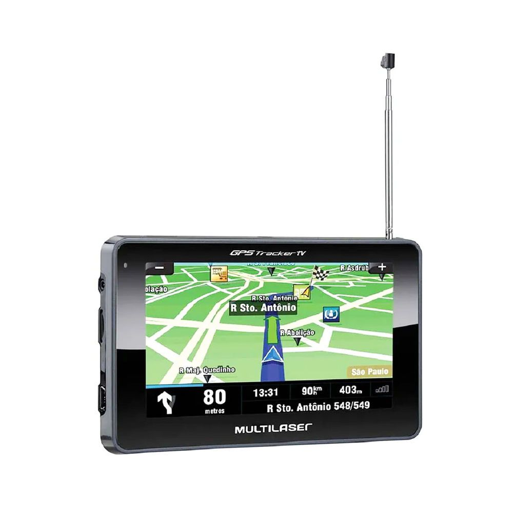 Gps p/ carro Multilaser Gp034 Tracker Tela 4.3