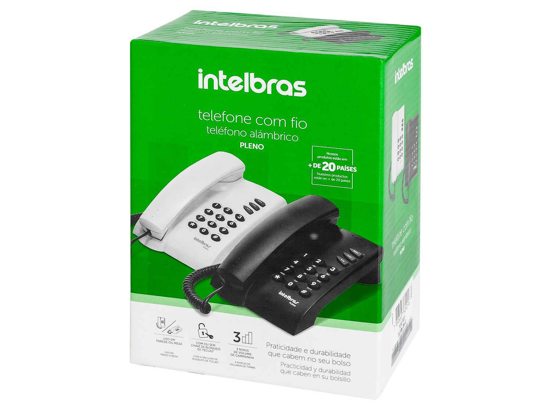 Telefone pleno com fio preto Intelbrás