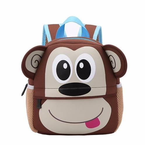 Mochila Infantil Para Bebês e Crianças Animal Zoo Macaco