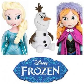Bonecas Frozen Ana e Elsa Kit Completo + Pelúcia Olaf