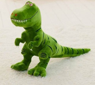 Dinossauro Verde Pelúcia Jurassic World Tiranossauro Rex