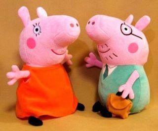 Brinquedo Para Bebê Pelúcia Papai Pig E Mamãe Pig Peppa