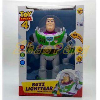 Buzz Lightyear Boneco Eletrônico Luzes Vozesb Toy Story 25cm