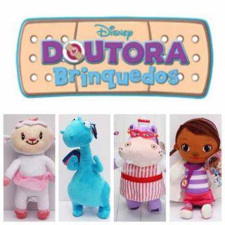 Kit Pelúcias Doutora Brinquedos Disney Presente Meninas