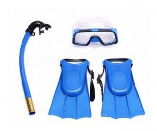 Kit de Natação Infantil Óculos Snorkel Pé De Pato