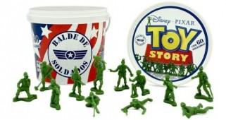 Balde De Soldados Toy Story Disney 60 Peças - Original