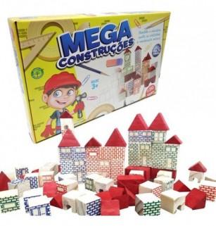 Mega Construções Bloco De Montar Brinquedos Infantil