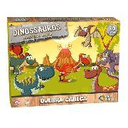 Quebra Cabeça Infantil Dinossauros 30 Pçs - Mdf